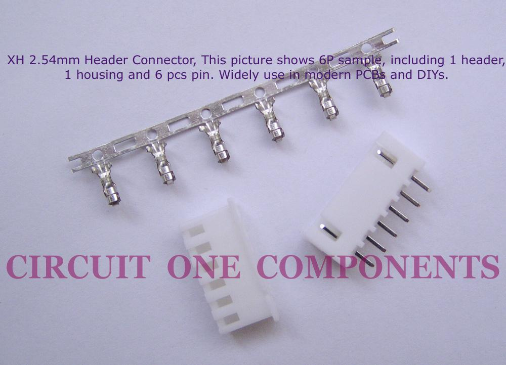 XH2.54mm 4P Header Connector Set - each
