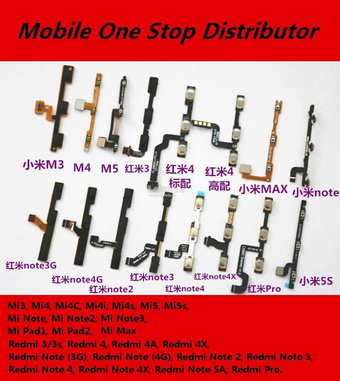 Xiao Mi 3 4 4C 4i 4S 5 5S Note 1 2 3 Max Max2 On Off Volume Ribbon