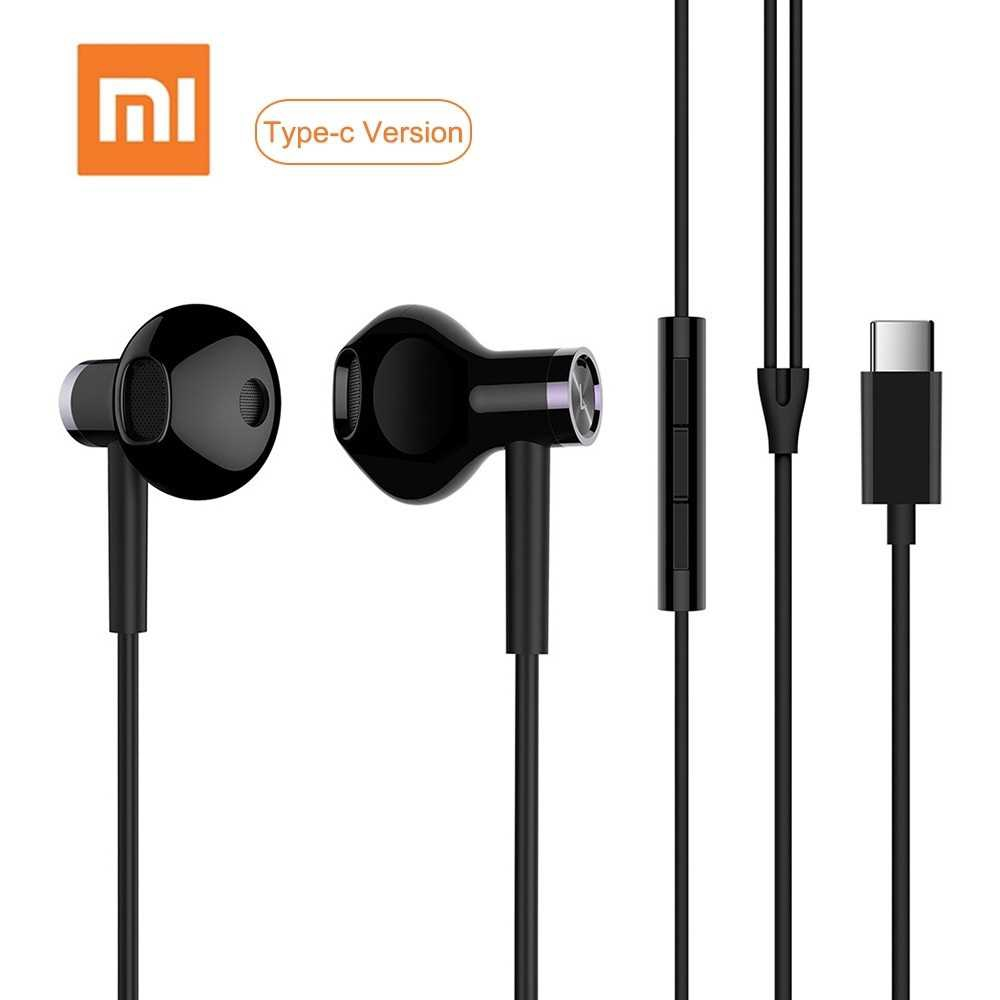 Xiao-mi USB Type-C Earphones Wired Control Dual-Unit Earbuds Headphones with M