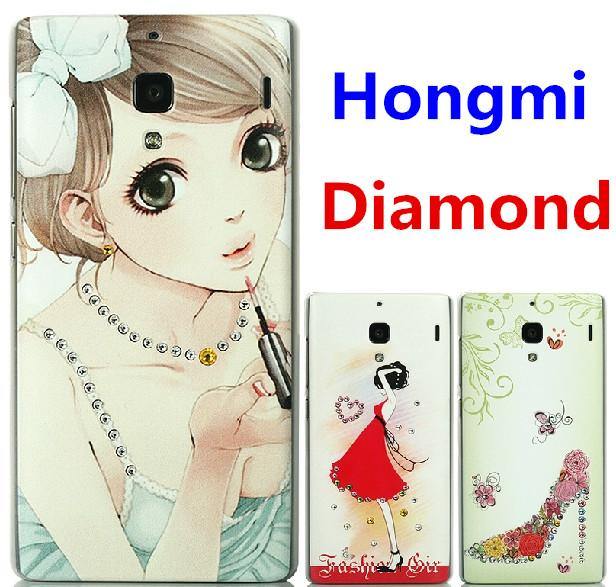 Xiaomi Hongmi Swarovski Diamond 3D Relief Case Cover + Free SP