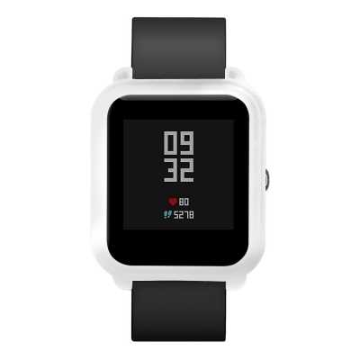For Xiaomi Huami Amazfit Bip Rubber Band Protect Case Cover (CRYSTAL CREAM)