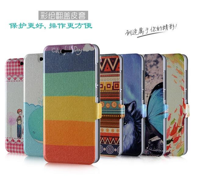 Xiaomi Mi 4i Mi4i Cartoon Design Flip Case Cover Casing +Free Sp