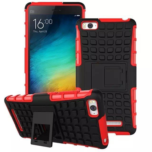 Xiaomi Mi 4i Mi4i Tough Armor ShakeProof Stand Case Cover Casing +Gift