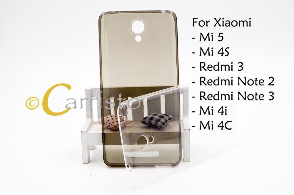 the best attitude a08de 667a3 Xiaomi Mi 5 4S 4i 4C Redmi 3 Note 2 3 Thin TPU Back Cover Case Casing