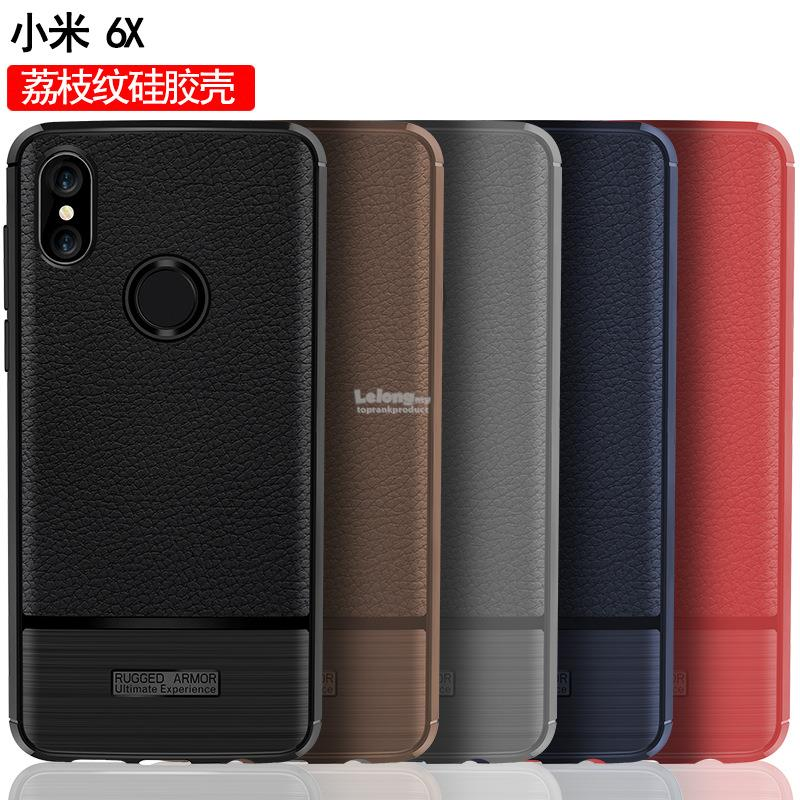 sale retailer 6535f 94ab1 Xiaomi Mi 6X Rugged Armor Soft ShakeProof Back Case Cover Casing