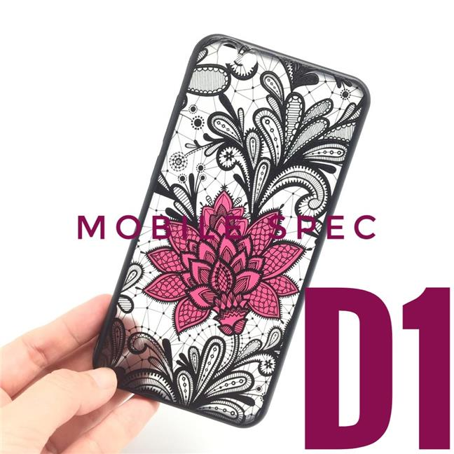 XIAOMI MI 8 A2 MIX (6X) 2S BEAUTIFUL SEXY BLACK LACE FLOWER BACK CASE
