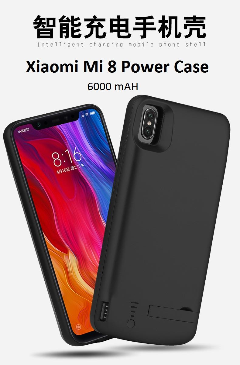 new products d1702 92301 Xiaomi Mi 8 external battery charges case powerbank power case 6000mAH