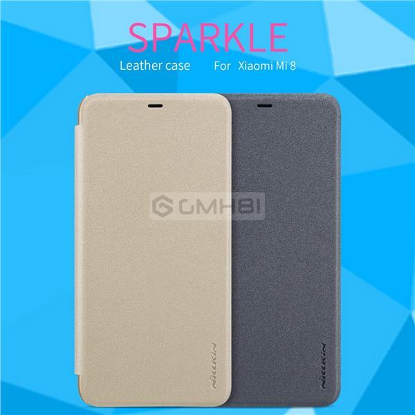 newest collection 70fe7 cb6bb Xiaomi Mi 8 SE Lite Nillkin SPARKLE Slim Leather Smart Cover Flip Case