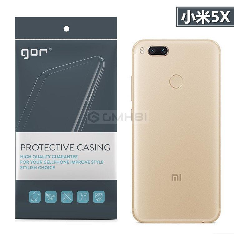 new style 24974 3c21c Xiaomi Mi A1 5X GOR Transparent Clear TPU Armor Soft Back Cover Case