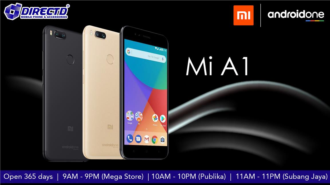 XIAOMI Mi A1 MiA1 (ANDROID ONE)ORIGINAL BY XIAOMI MSIA - READY STOCK!