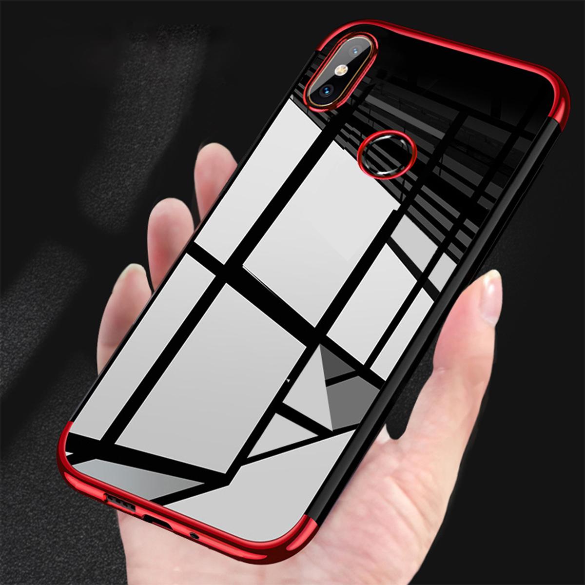 wholesale dealer 6956b 940e5 Xiaomi Mi A2 A2 Lite Mi 8 Electroplate TPU Soft Case Cover Casing Housing