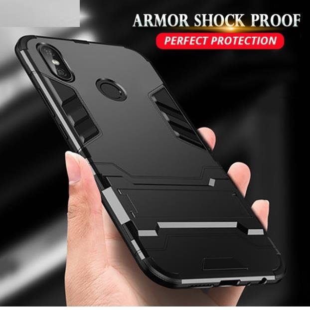 superior quality d0b2a a36a0 Xiaomi Mi A2 Lite Mi Max 3 Silicon Iron Man Stand Tough Armor Case