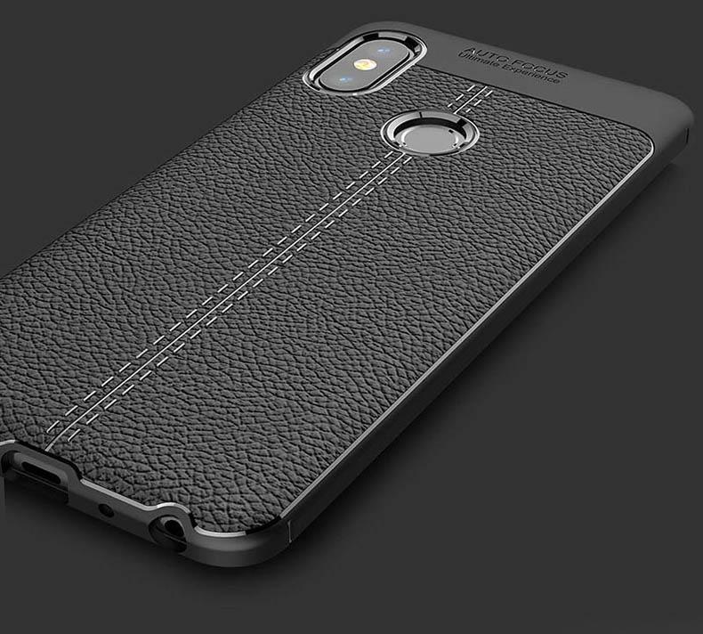 premium selection f514d 88a41 Xiaomi Mi A2 Lite Redmi 6 6A TPU Leather Soft Case Cover Casing