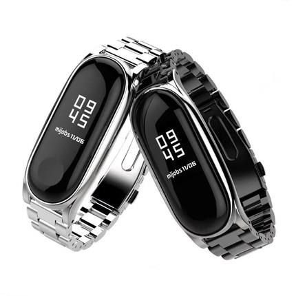 XiaoMi Mi Band 2 3 stainless watch band metal strap waterproof