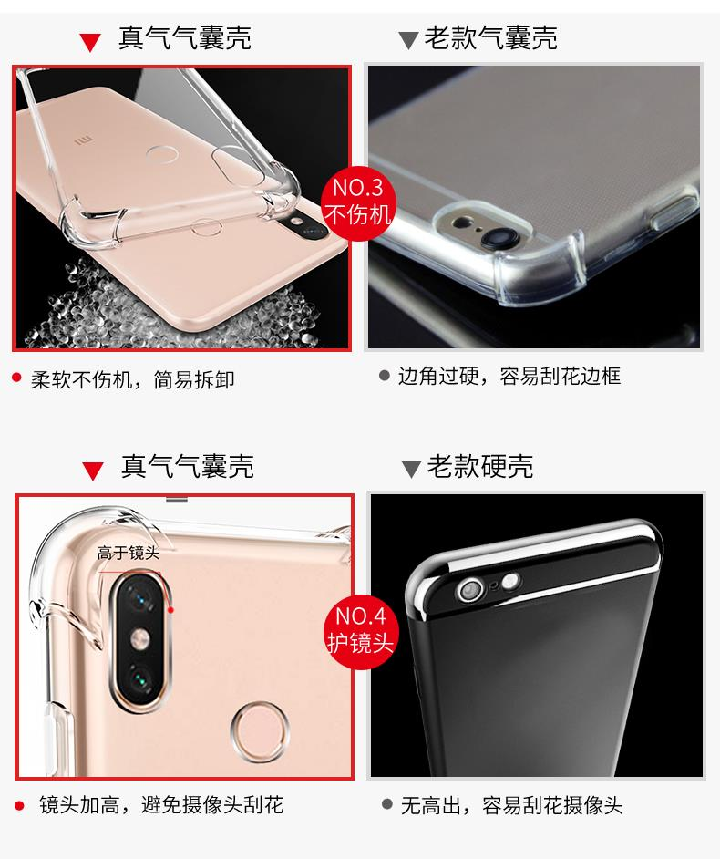 XiaoMi Mi Max 3 Anti Crash Shock Proof AirBag Case Cover