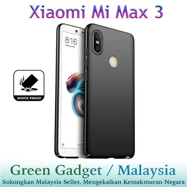 Xiaomi Mi Max 3 Case Cover Thin Fit Hard (Black)