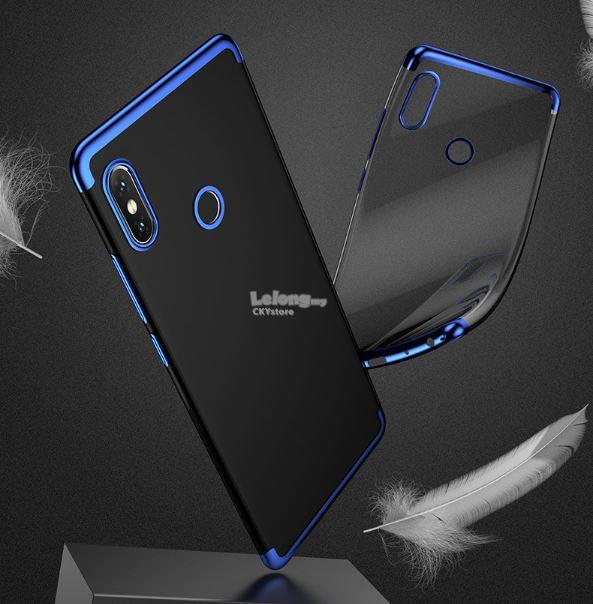 promo code 6c1ce e54e5 XIAOMI MI MAX 3 Electroplating TPU Transparent Case Cover