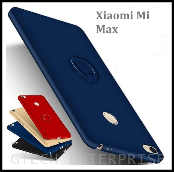 newest 895f4 9595c Xiaomi Mi Max Slim 360 Full Protect Back Cover Case with Ring