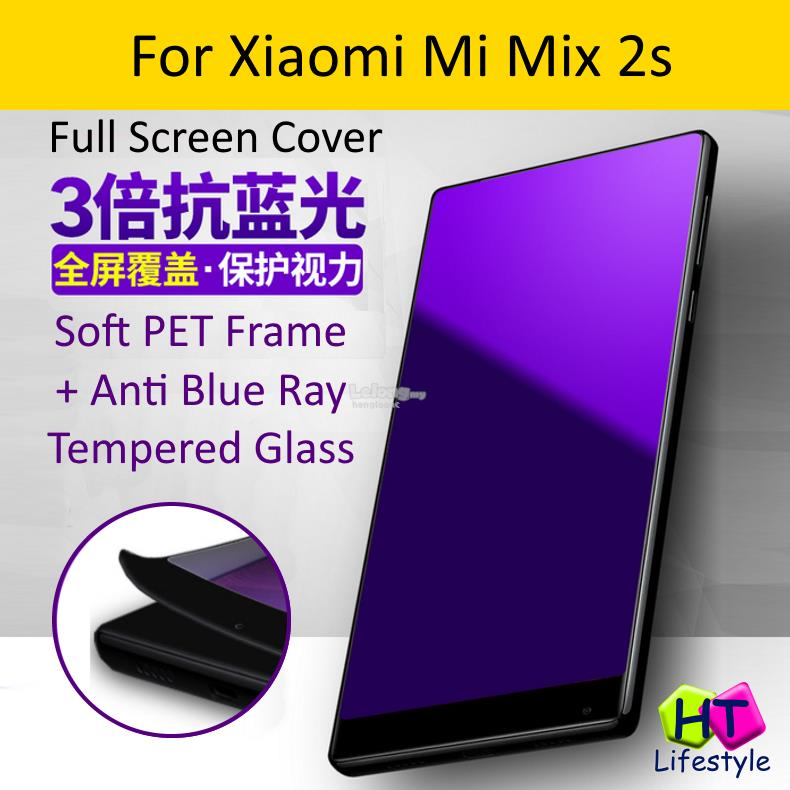 Xiaomi Mi Mix 2s Soft Frame Anti Blue Ray Full Screen Protector