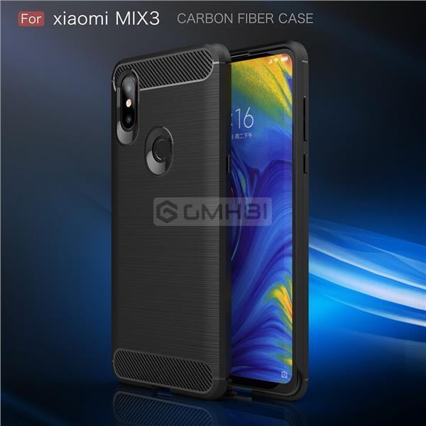 100% authentic 28894 e9e54 Xiaomi Mi Mix 3 BRUSHED Rugged Tough Slim Armor TPU Bumper Cover Case
