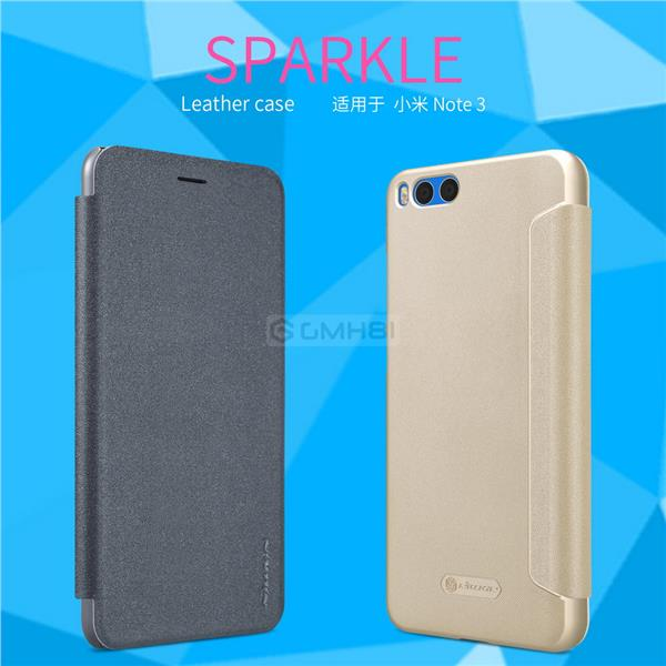 sale retailer 94ced d4dc6 Xiaomi Mi Note 3 Nillkin SPARKLE Smart Cover Auto Sleep Slim Flip Case
