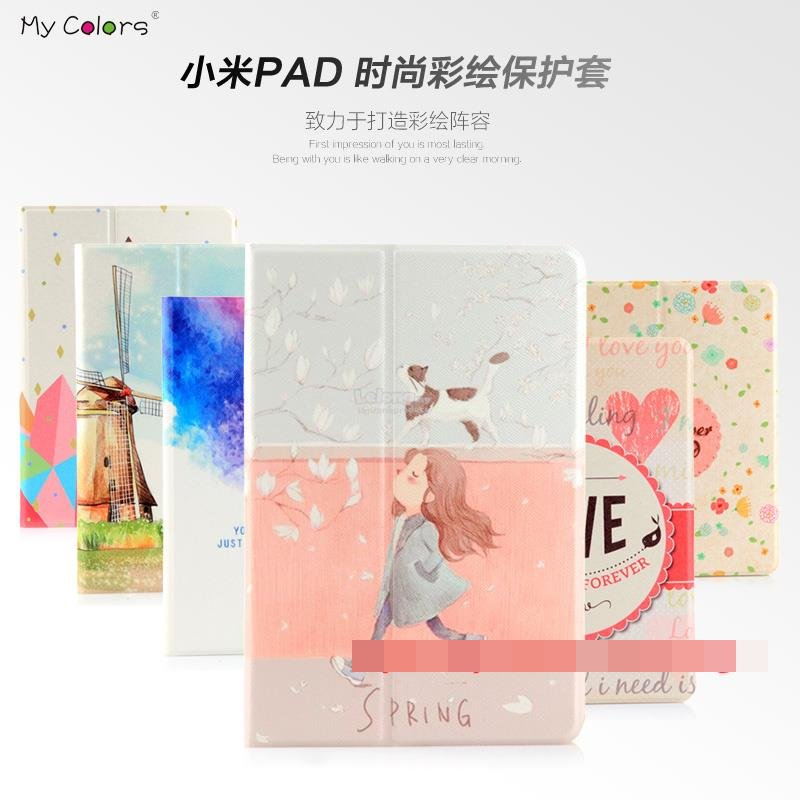 Xiaomi Mi Pad MiPad Flip Smart Stand Cartoon Design Case Cover Casing