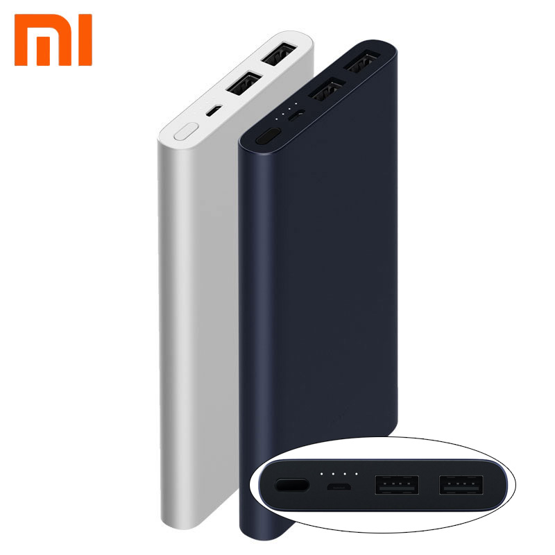 XiaoMi Mi PowerBank 10000mah 2i Dual USB Quick Charge Original PLM09ZM