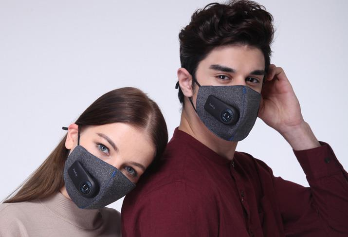 XIAOMI Mi PURELY Air Mask - Anti-Pollution PM2.5 Mini Fan Face MSensor
