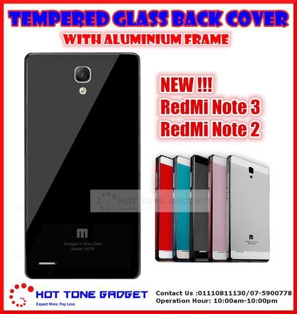 sports shoes 431a4 5842e Xiaomi Mi Redmi Note 2 3 4G Redmi 1s 2 Tempered Glass Back Cover Case