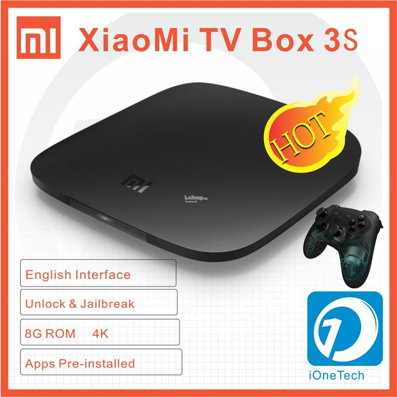 XIAOMI Mi TV BOX 3S 4K Media Player 8GB ROM Jailbreak apps preinstall