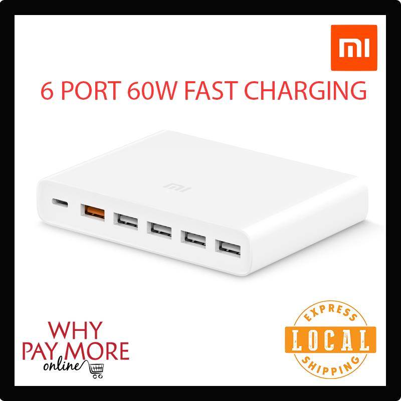 Xiaomi Mi USB-C 60W Charger Type-C USB-A 6-Port QC 3.0 Quick Charger