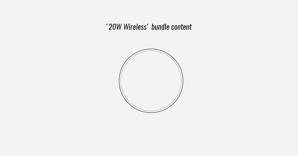 Xiaomi Mi Wireless Charger Qi 20W Quick Charge Type C MDY-10-EP