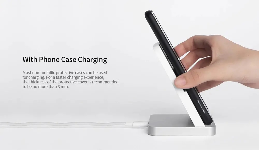 Xiaomi Mi Wireless Charger Stand Pad 30W Qi Air Cooled Quick Charge T