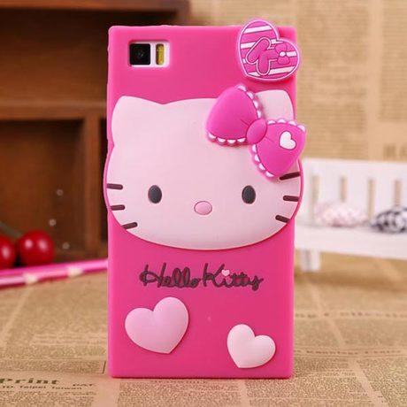 half off ac2a4 94296 Xiaomi Mi3 Hello Kitty Silicone Case Cover