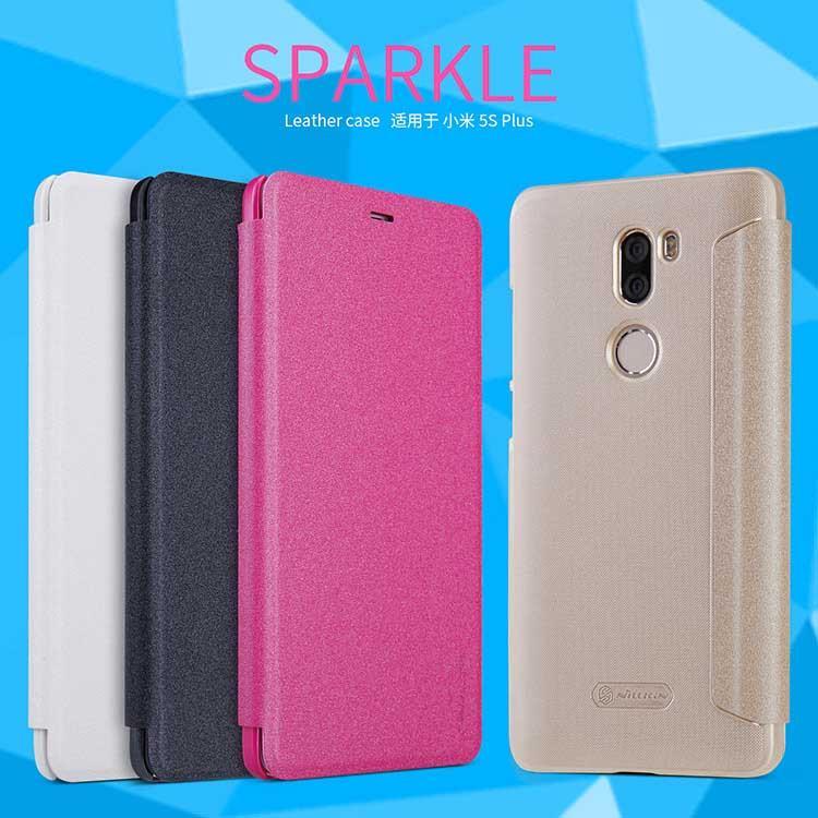 the latest 0f07c 8ac7f XiaoMi Mi5s Plus Nillkin New Sparkle Leather Flip Case Cover