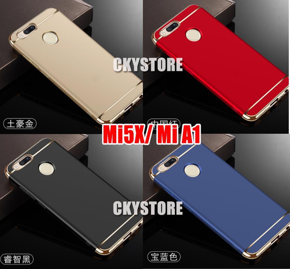 uk availability ac4f2 698e6 Xiaomi Mi5X MiA1 Mi A1 3 in1 CHROME Perfect FIT SLIM BACK Case