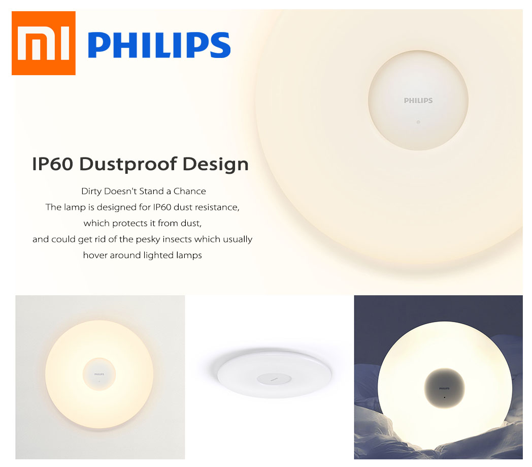 Philips Led Xiaomi Lamp Warm Light Mijia Whiteamp; Smart Ceiling AL34Rj5