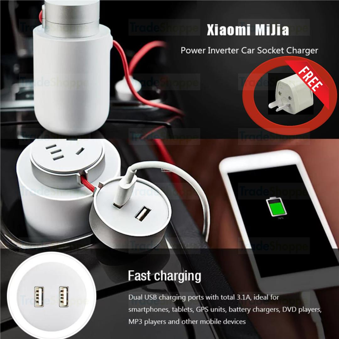 Xiaomi Mijia Power Inverter Car Socket Charger - WHITE