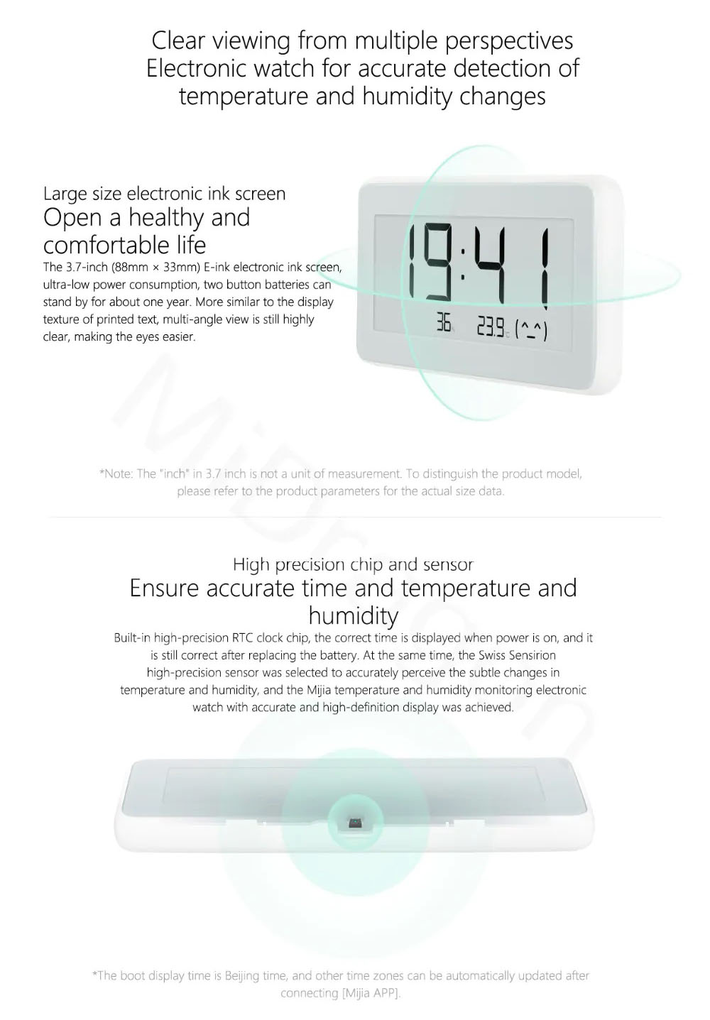 Xiaomi Mijia Thermometer PRO Temperature Hygrometer Thermostat Humidit