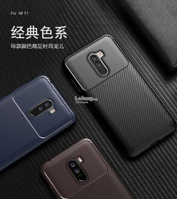 the best attitude 652a6 d4743 Xiaomi Pocophone F1 Musi Carbon FIBER LINE Design TPU Case