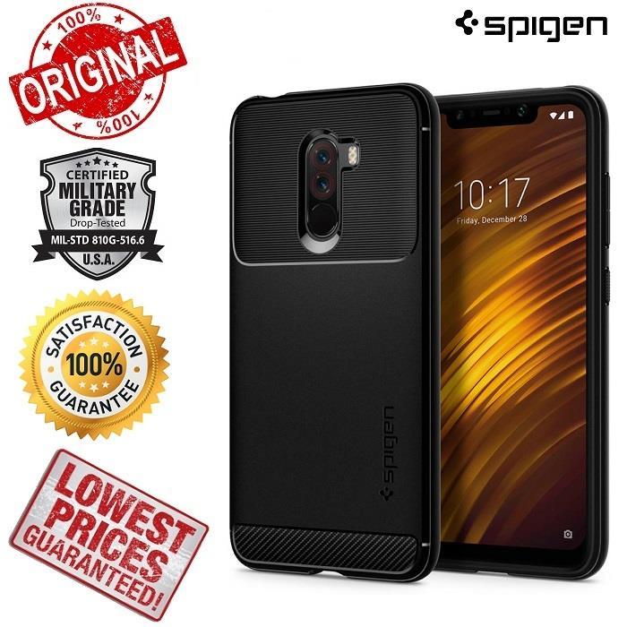 huge discount 6a79a ba6f0 Xiaomi Pocophone F1 SPIGEN Rugged Armor Phone Case Cover Casing