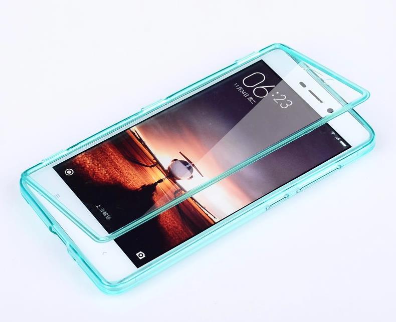 low priced 9f348 c4626 Xiaomi Redmi 3 Transparent Flip Armor Case Cover Casing + Free Gift