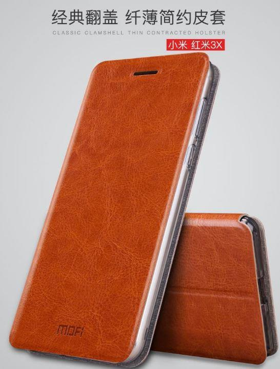 best service b2789 6ba27 XIAOMI REDMI 3X 4A 4 PRIME Mi5S PLUS MOFI Leather Standable Flip Case