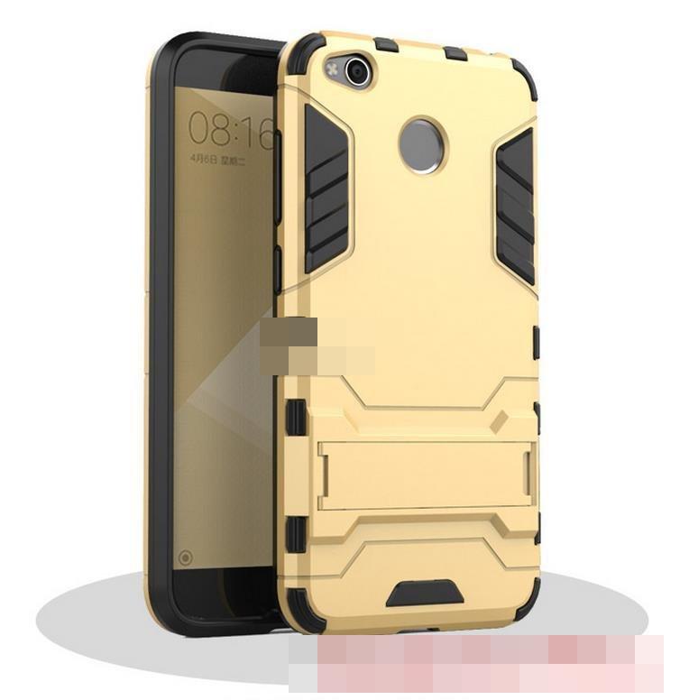 reputable site 169ad 83cac Xiaomi Redmi 4A Note 4 4X Stand Armor Back Case Cover Casing