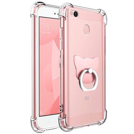 100% authentic 32e38 b3501 Xiaomi Redmi 4A Prime 6 Note 4 4X Transparent Case Casing Cover + RING