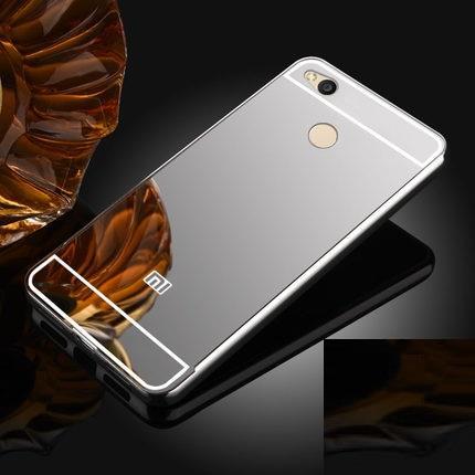 the latest 6652b ea7c2 Xiaomi Redmi 4X Metal Bumper Case Cover Casing +Tempered Glass