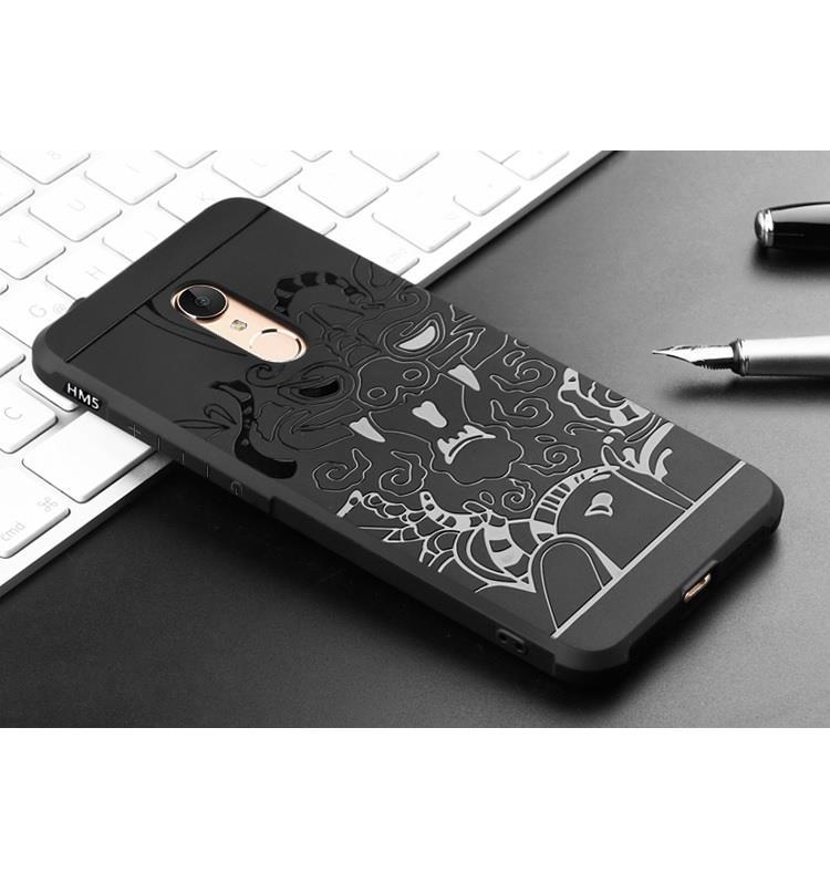 super popular 2709a 90141 Xiaomi Redmi 5 5 Plus Mi A1 Black Business Dragon Silicon TPU Case