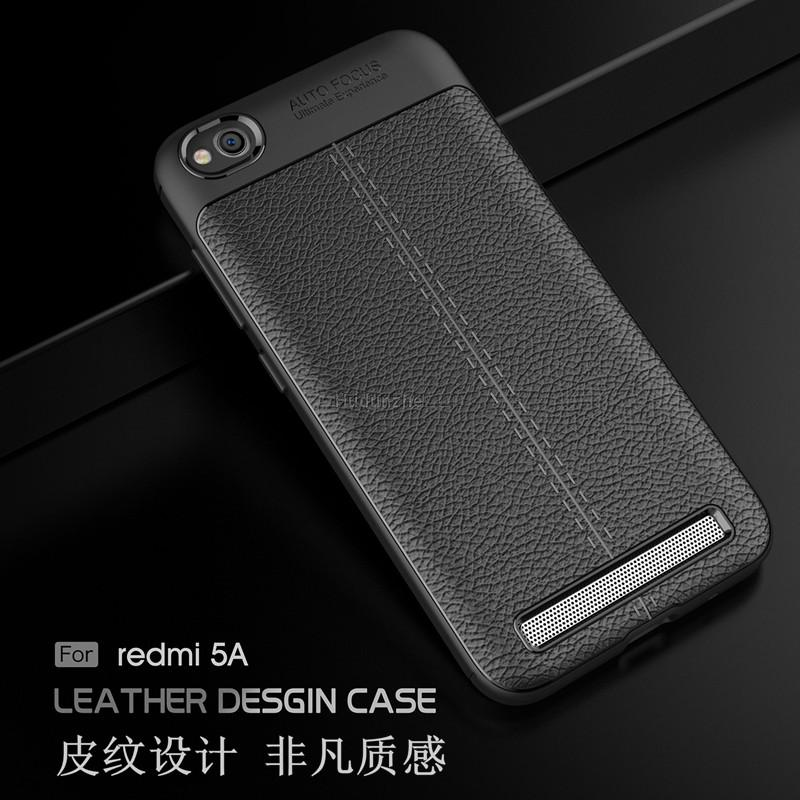 cheap for discount 96dbb 09bfc Xiaomi Redmi 5A Leather Soft Shockproof Case Cover