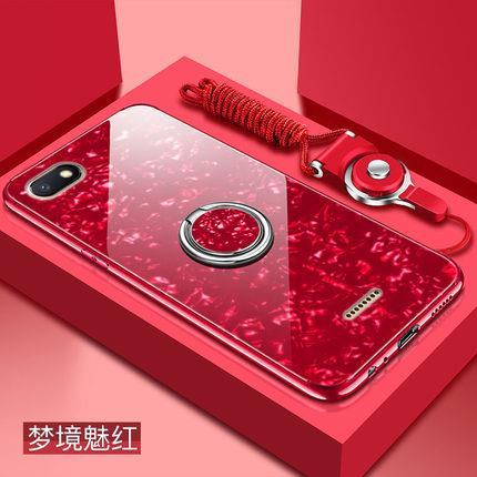 outlet store 9eb1b 29f9b Xiaomi Redmi 6A 6 Mi A2 Lite Back Mirror Cute Case + Tempered Glass