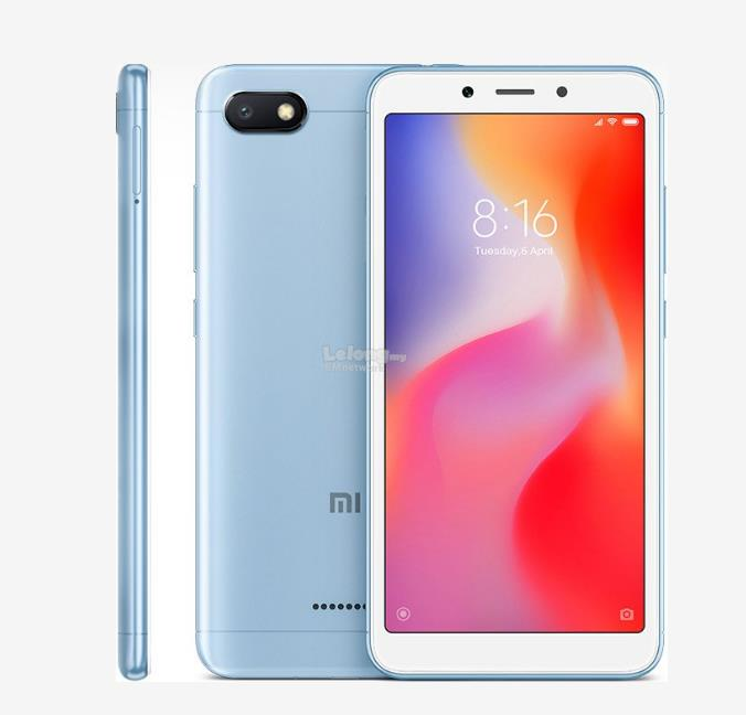 Xiaomi Redmi 6A Smartphone (2GB + 16GB) Free Case + tempered glass